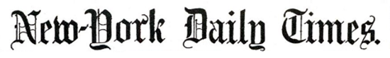 The New York Times first issue's header