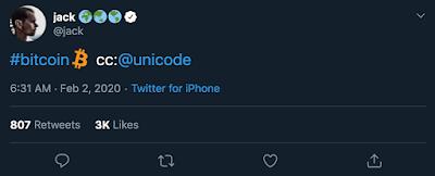 В Твиттере появился символ биткойна