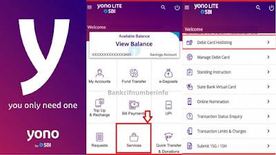 Check MOD Balance in SBI using Yono lite app