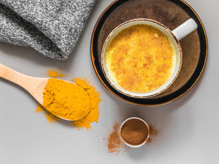 Turmeric milk solution to cough cold