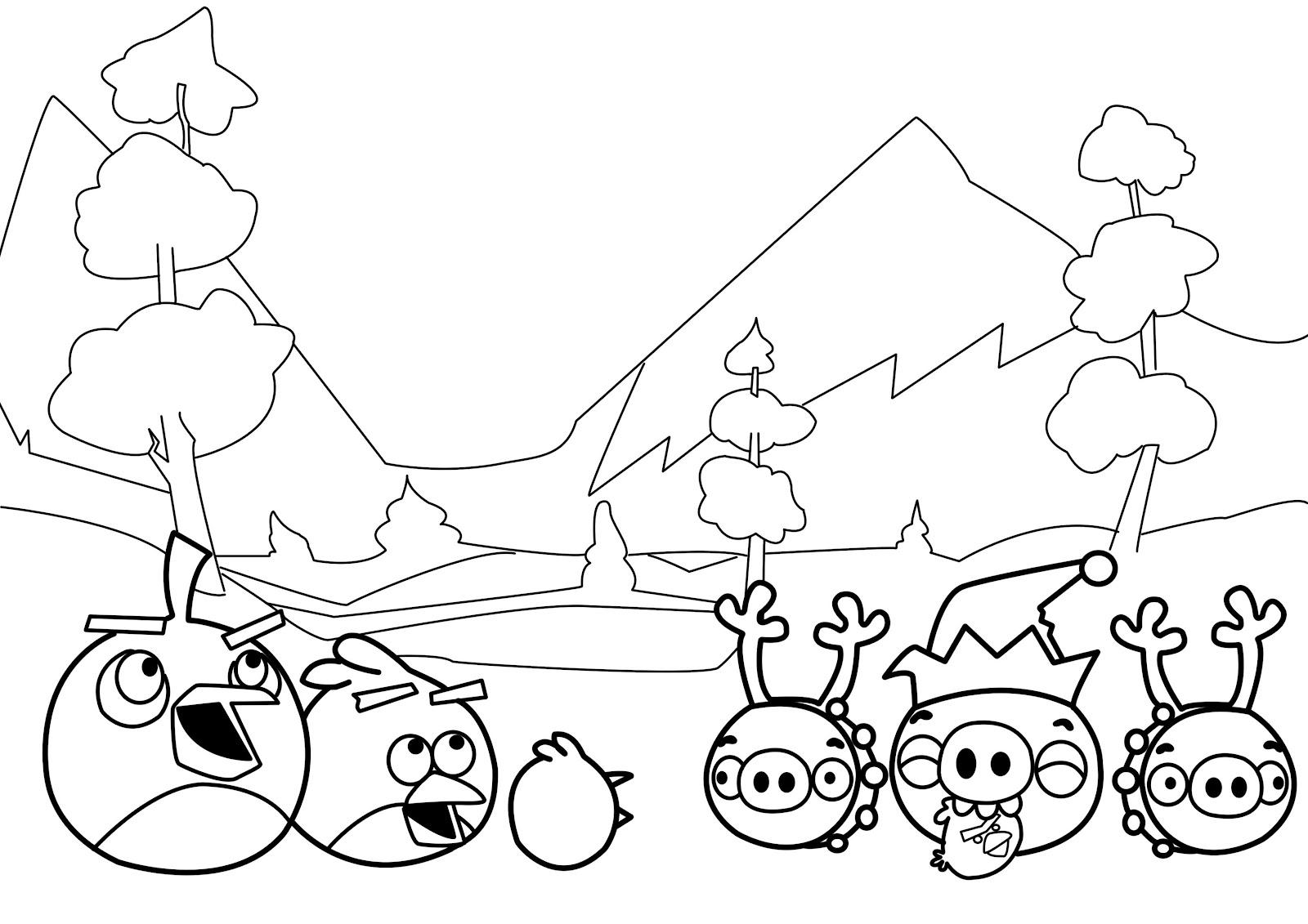 Desenhos Para Pintar Angry Birds: Brinquedos De Papel: Desenhos Dos Angry Birds Para Colorir