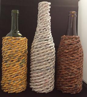Flesvazen gemaakt van papier
