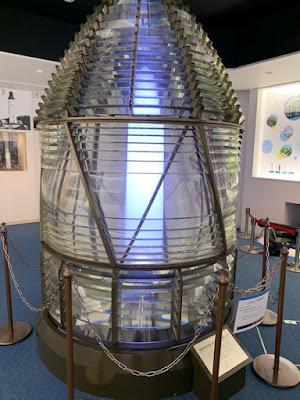 野島埼灯台に展示されていたライト