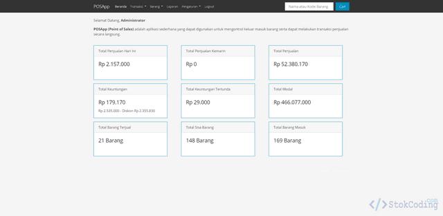 Aplikasi Penjualan Elektronik Berbasis Web (Codeigniter)
