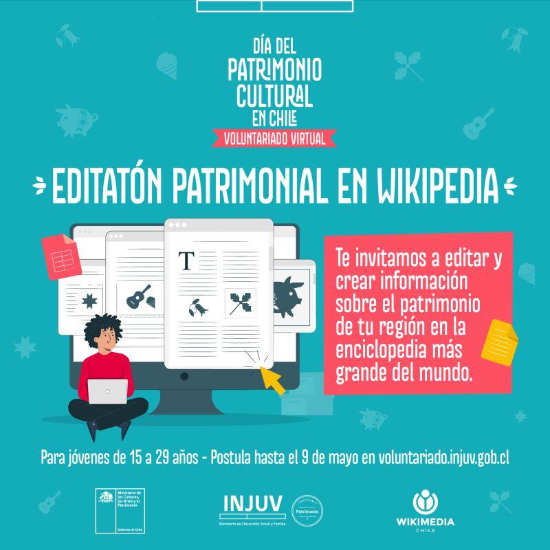 """Editatón Patrimonial en Wikipedia"""