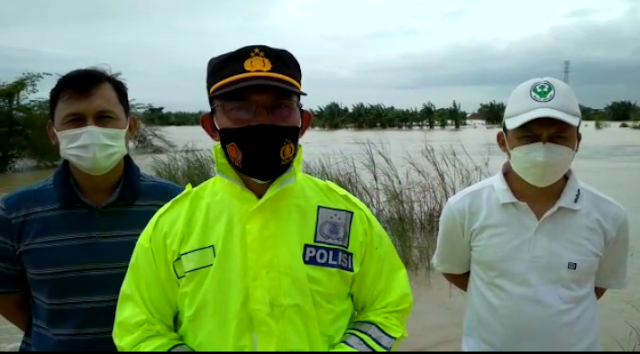 Baru Dilantik Tiga Hari, Kapolsek Jati Tinjau Kondisi Terkini Sungai Wulan