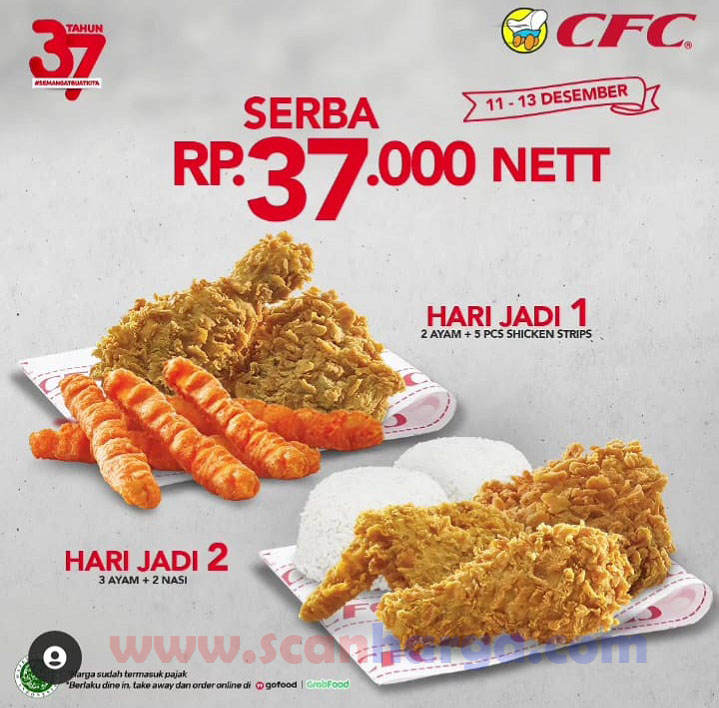 CFC Promo Paket Hari Jadi Serba Rp 37.000 nett