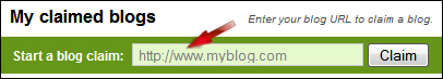 Claim blog to Technorati
