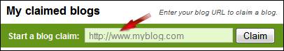 Claim blog to Technorati