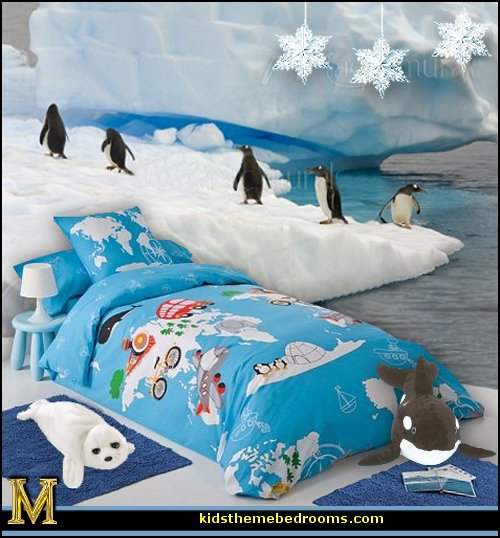 Decorating theme bedrooms maries manor penguin bedrooms for Belly button bears wall mural