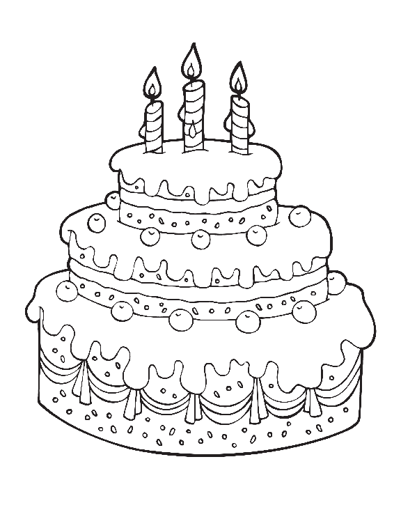 Mewarnai Kue Ulang Tahun : mewarnai, ulang, tahun, Gambar, Mewarnai, Ulang, Aneka, Rebanas