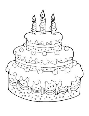 Gambar Mewarnai Kue Ulang Tahun - 10