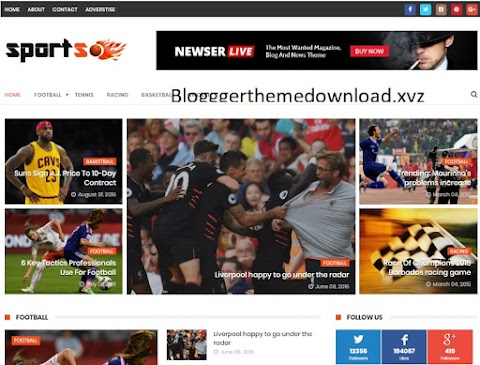 SportsMag Blogger template Free Download   Sports Mag Blogger Theme Download