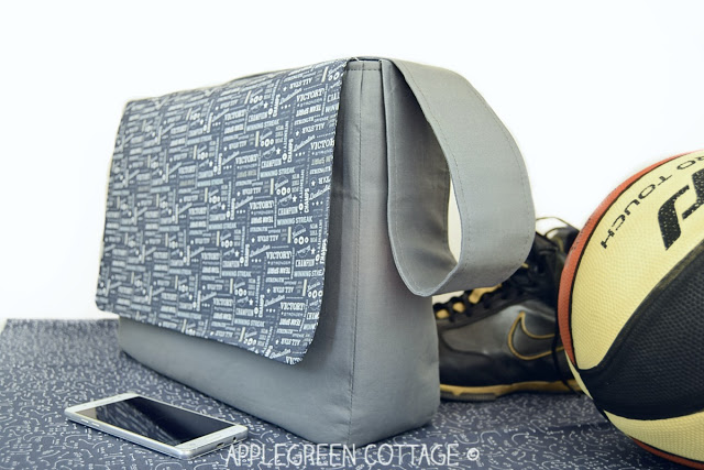 Learn how to make a messenger bag. Tutorial by Apple Green Cottage