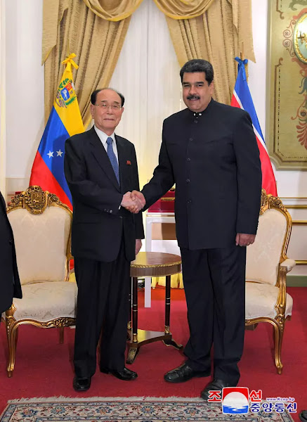 Kim Yong Nam and Nicholas Maduro, Caracas, Nov 27, 2018