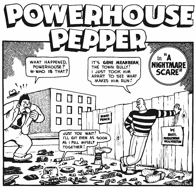 "Basil Wolverton's comic ""Powerhouse Pepper"" in ""A Nightmare Scare"""