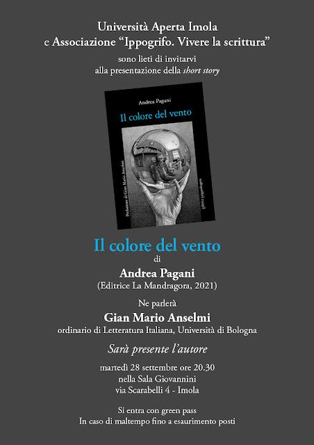 """Presentazione short story """"Il colore del vento"""" (di Andrea Pagani)"""
