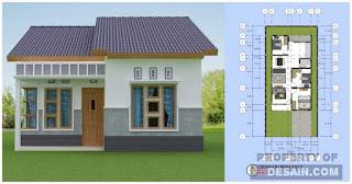 Desain rumah 6x12 3 kamar Tidur