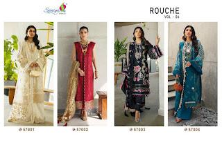 Saniya Trendz Rouch vol 6 pakistani Suits