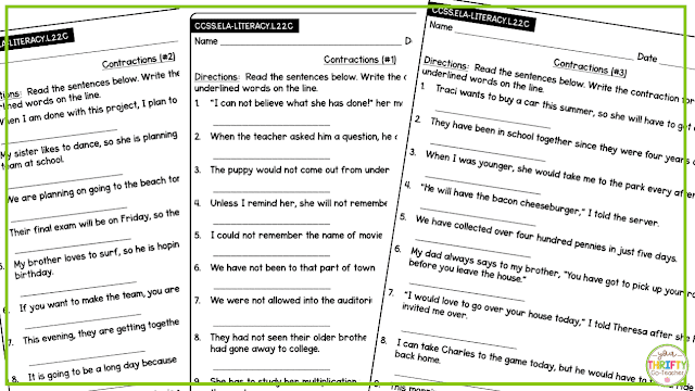 Can your students still use some help with contractions? These contractions assessments for upper elementary students will help you assess their mastery.