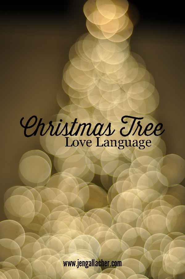 Christmas Tree Love Lauguage with Jen Gallacher from www.jengallacher.com