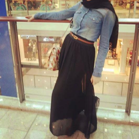 v tement hidjab moderne hijab chic tenue hijab moderne avec robe noire tr s. Black Bedroom Furniture Sets. Home Design Ideas
