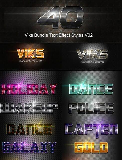 Stylish Text Effect Photoshop Styles Free Download