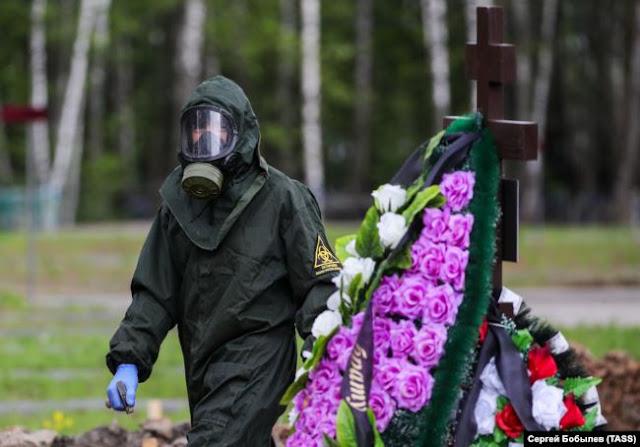 Похороны умершего от COVID-19 в Москве, 15 мая 2020 года