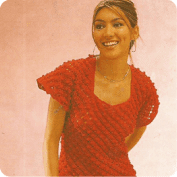 Conjunto Blusa y Falda a Crochet