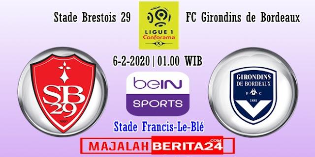 Prediksi Brest vs Bordeaux — 6 Februari 2020