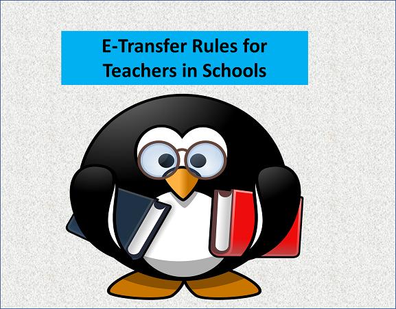 TRANSFER RULES FOR TEACHERS TRANSFER 2021 IN SCHOOLS