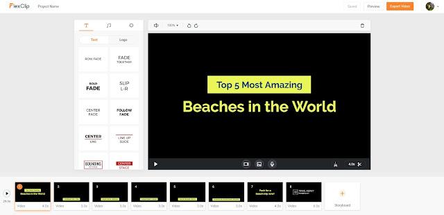 Realiza videos rápidos y profesionales con Flexclip