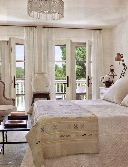 Elegant European Farmhouse Decor in Bedroom by Shannon Bowers on Hello Lovely Studio