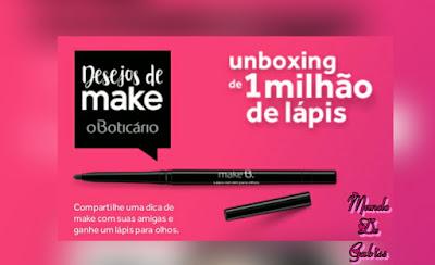 O Boticário : Promoção Make B. Lápis Retrátil