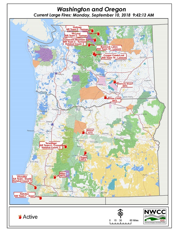 Northwest Interagency Coordination Center 9 10 2018 Or Wa Current
