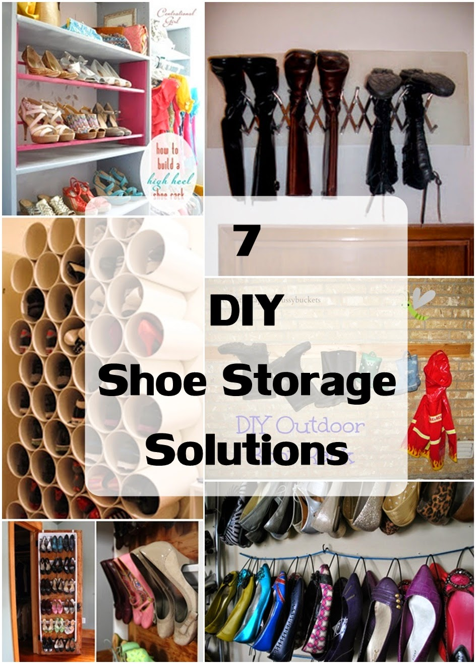 7 DIY Shoe Storage Solutions - DIY Craft Projects