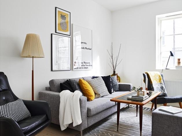 Idee Deco Chambre Wenge : Inspiracje w moim mieszkaniu Żółte akcenty salonie