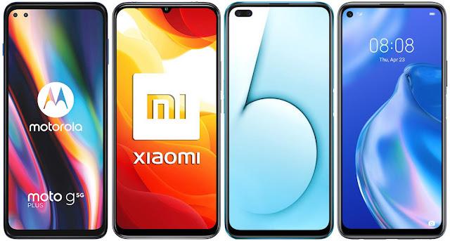 Motorola Moto G 5G Plus vs Xiaomi Mi 10 Lite 5G vs Realme X50 5G vs Huawei P40 Lite 5G