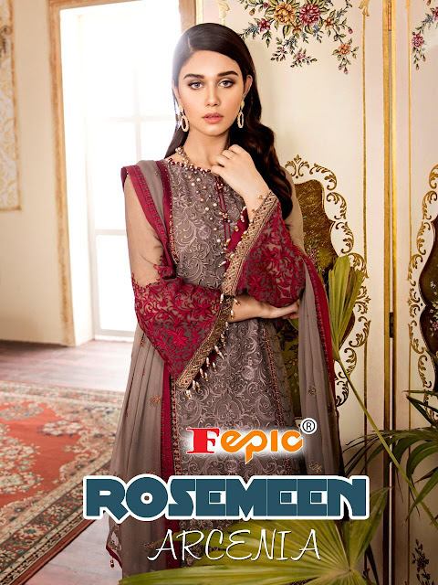 Fepic Rosemeen Arcenia Pakistani Wedding Suits catalog