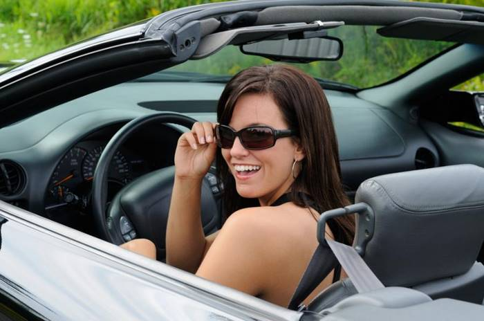 Women can drive in swimsuits  ↑ . In Kentucky, in the USA, women can drive a car in a swimsuit only if they have the means of self-defense at hand or ... accompanied by two police officers.