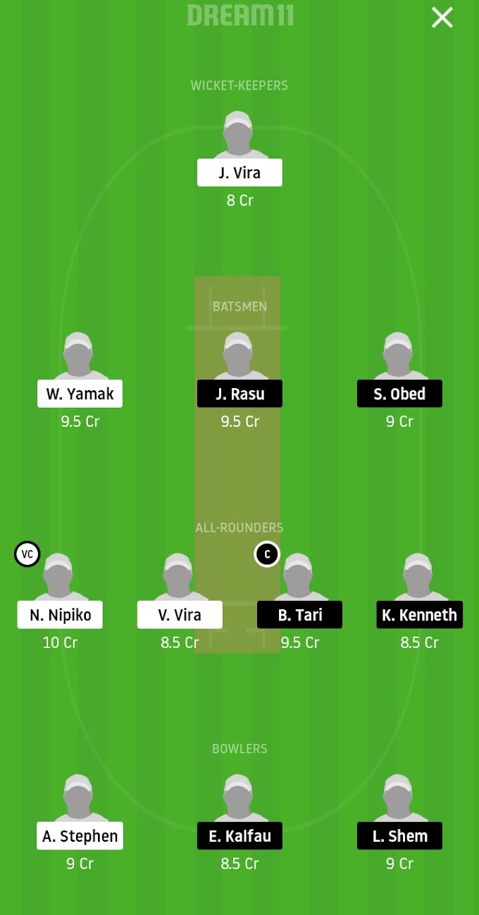 BetBarter Vanuata Blast : Ifira Sharks Vs Mighy Efate Panthers Dream11