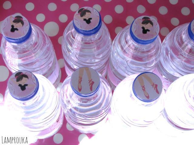 Διακόσμηση μπουκαλιών για πάρτυ μπαλαρίνα.