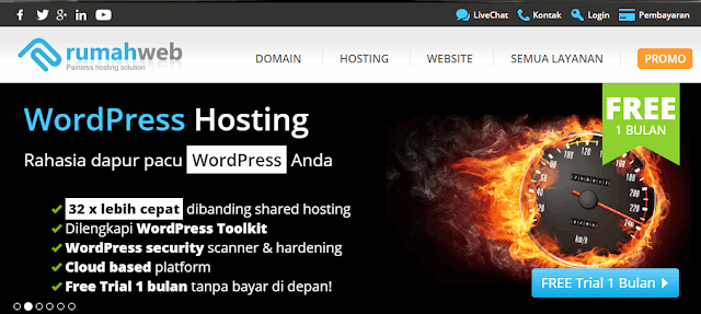 Trial Wordpress Hosting Rumahweb
