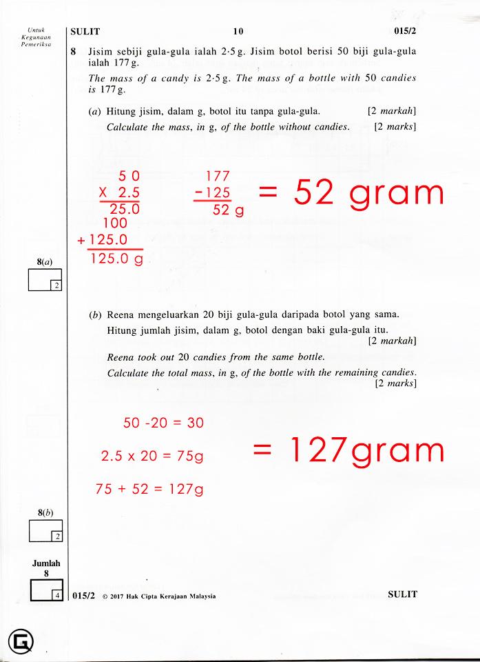 Soalan Matematik Tahun 6 Dan Jawapan Selangor K