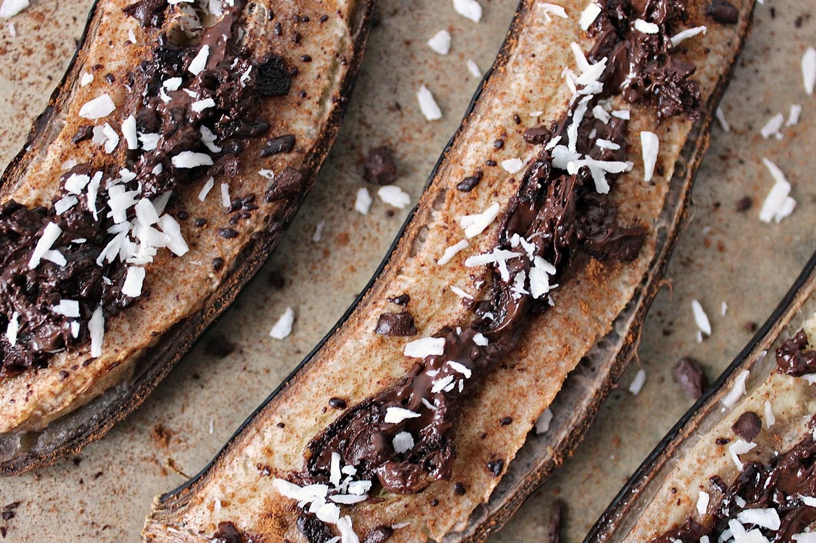 Banany pieczone z czekoladą