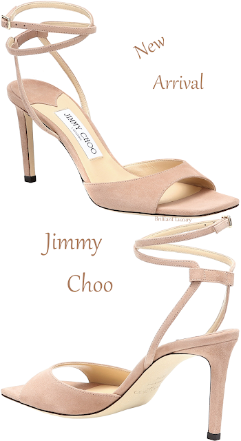 Jimmy Choo Mori just right ankle wrap suede sandal #brilliantluxury