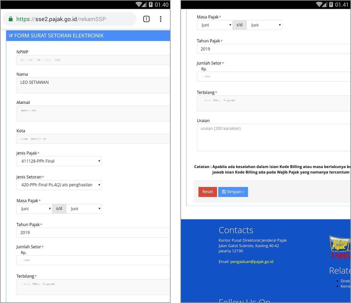 √ Cara Membuat Kode E-Billing Pajak via SMS dan WhatsApp - Rafinternet