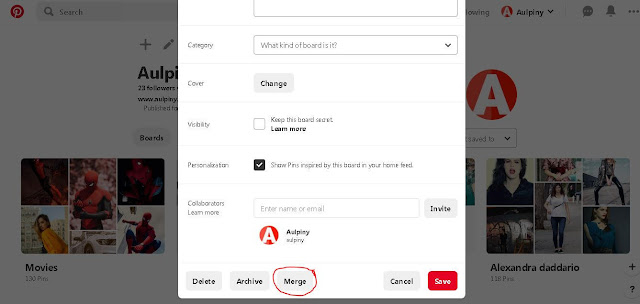 Merge - Pinterest Tips Ans Tricks