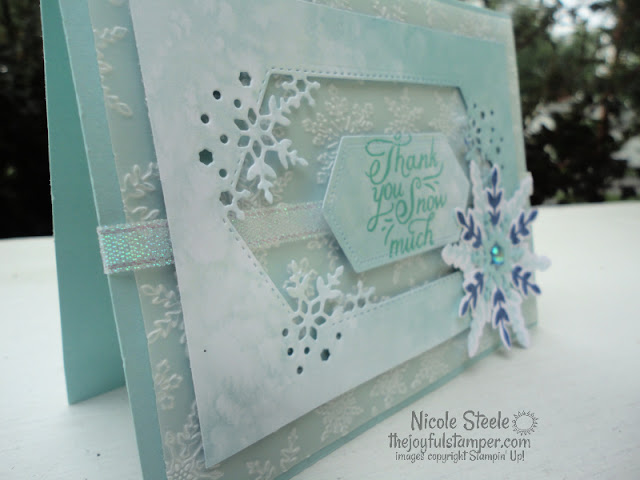 snowflake wishes, snowflake splendor, stampin' up!, winter cards, thank you cards, handmade cards, nicole steele, stampin' up! independent demonstrator, the joyful stamper, pittsburgh pa