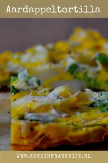 Aardappeltortilla met brocolli